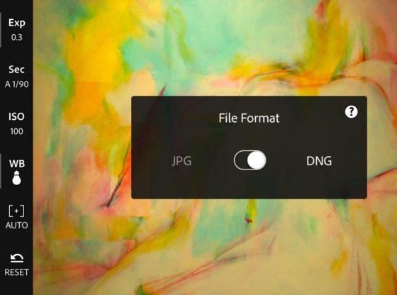 Adobe Lightroom Mobile and DNG format