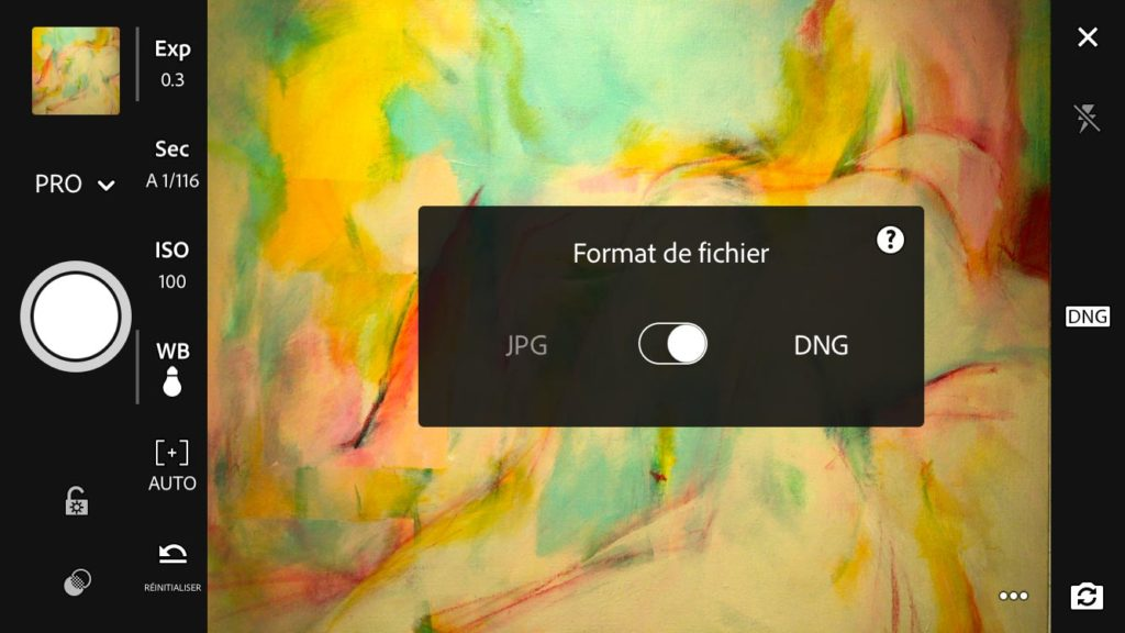 Adobe Lightroom Mobile et le format DNG