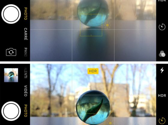 Effect on picture focus and sharpness of fingerprints on a smartphone lens