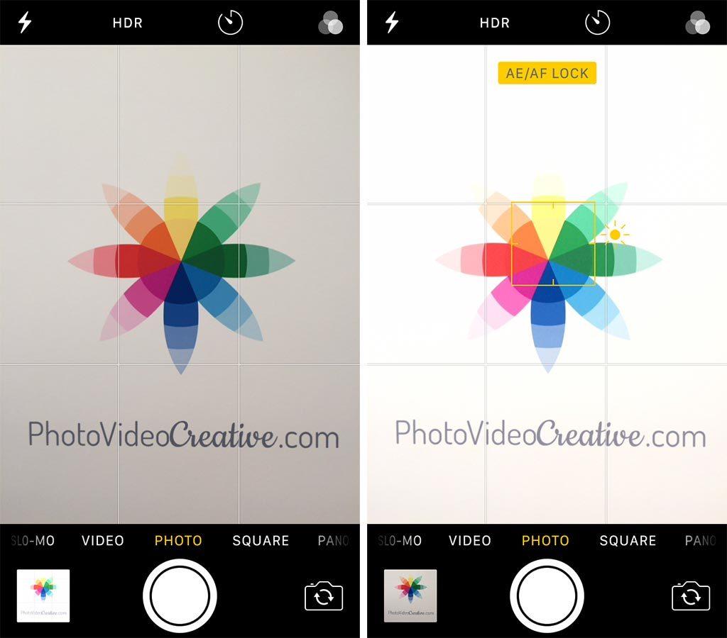 Manual exposure with iOS Photo App
