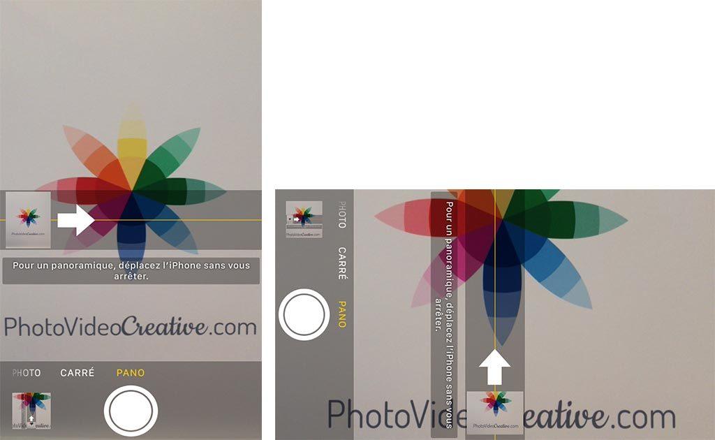 Mode Panorama sur Apple iPhone