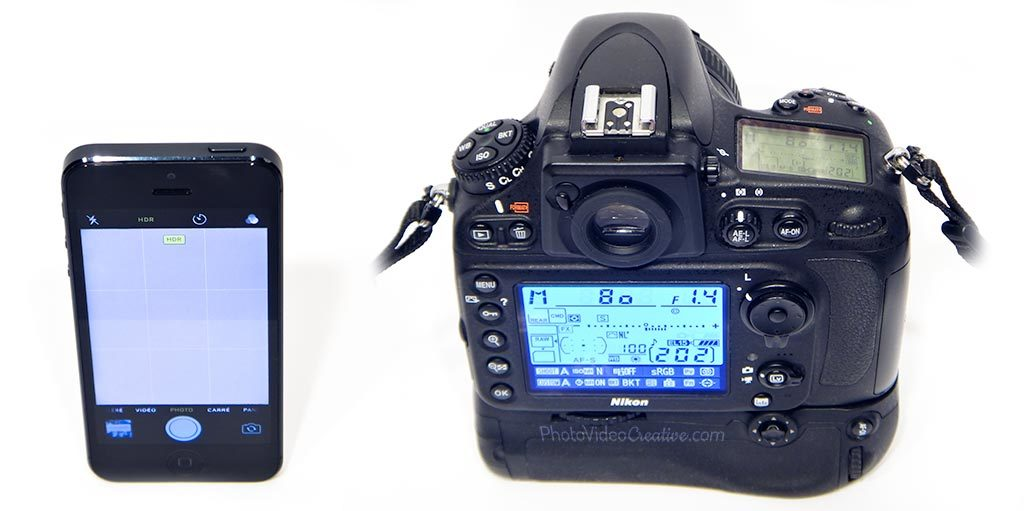 iPhone 5 vs. Nikon D800