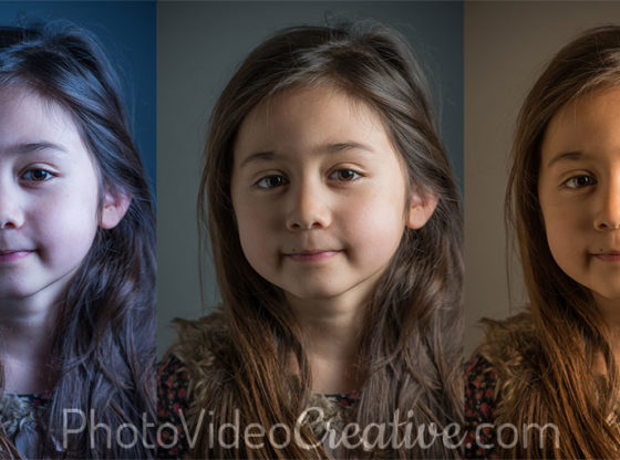 Cold, Neutral and Warm White Balance of a Photo Portrait