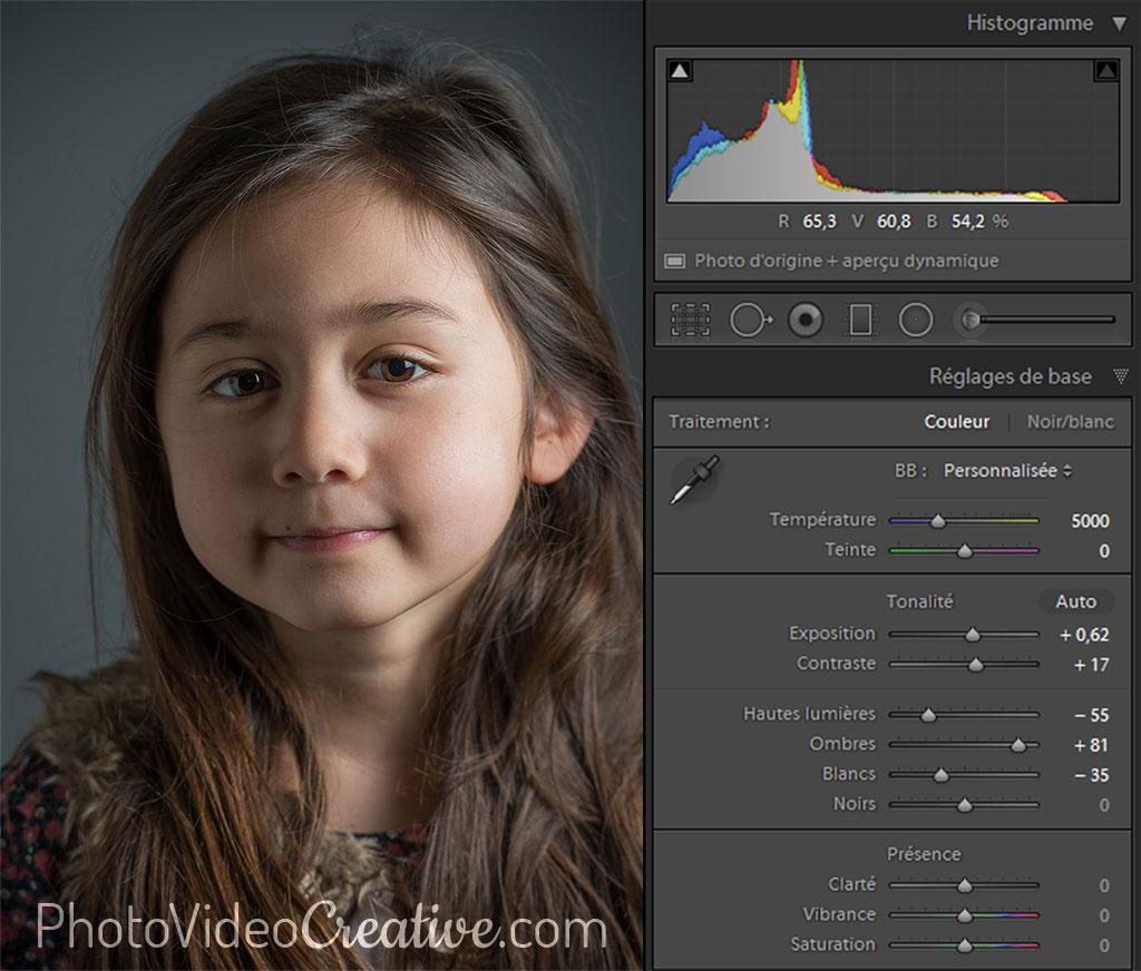 Développement photo avec tonalité équilibrée sous Lightroom