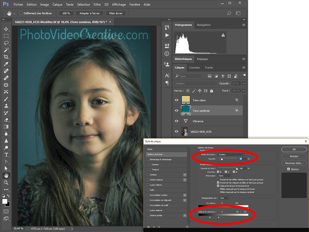 Développement d'une palette de couleur dans Photoshop