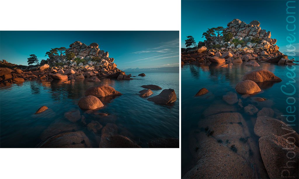 Composition in portrait or landscape orientation