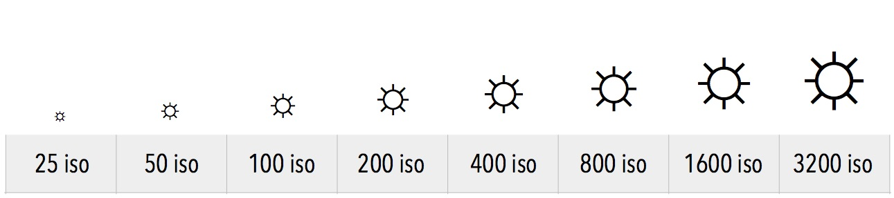 Echelle normalisée de sensibilité ISO