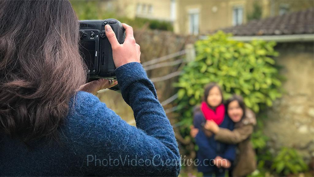 La photographe et la prise de vue de ses sujets